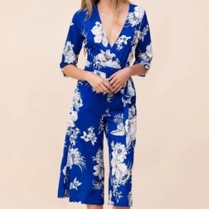 Yumi Kim Floral Cropped Jumpsuit